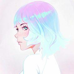 Kuvshinov Ilya is creating Illustrations and Comics Anime Gifs, Anime Art, Art And Illustration, Pretty Art, Cute Art, Art Internet, Dibujos Pin Up, Bel Art, Kuvshinov Ilya