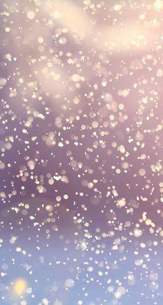 Glitter snowfalling iPhone wallpaper