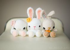 Spring Bunnies Crochet Pattern by AllAboutAmi on Etsy
