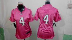 Women Nike Raiders #4 Derek Carr Pink love jerseys $22.5
