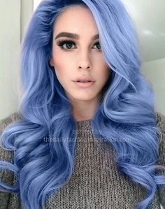 stunning blue hairstyle model