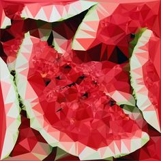 Abstract Art : Fruits : Watermelon by kenkchow.deviantart.com on @DeviantArt