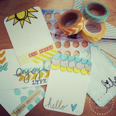 Inspiration: From Cardstock to Journaling Cards by Sadie Inspired
