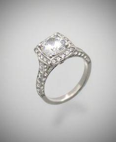 Richard Landi 1924 Pave Diamond Ring in Gold or Platinum