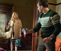 Still of Jonny Lee Miller and Candis Cayne in Elementary