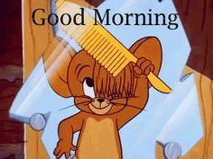Jerry Combing Hair Good Morning Gif good morning tom and jerry good morning quotes jerry good morning gifs good morning sayings good morning image quotes Good Morning Gif Funny, Good Morning Gif Animation, Good Morning Picture, Good Morning Cartoon Images, All Cartoon Images, Tom Und Jerry Cartoon, Tom And Jerry Gif, Tom And Jerry Quotes, Calin Gif