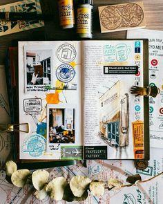 Throwback to visiting TN's flagship Nakameguro store 😍😍 Album Journal, Travel Journal Pages, Scrapbook Journal, Travel Scrapbook, Travel Journals, Travel Books, Kunstjournal Inspiration, Sketchbook Inspiration, Arte Sketchbook