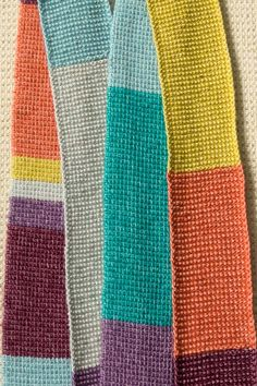 Cachecol crochet tunisiano