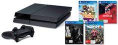 PlayStation 4 Console + 4 Games bundle - EB Games Australia