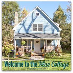Blue Cottage Decor: Our Porch and Yard. Dagmar's Home. DagmarBleasdale.com #cottage #porch #decor #cottagedecor #bluecottage #yard #DIY