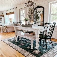 Machine Washable Rugs (@ruggable) • Instagram photos and videos Home Decor Furniture, Furniture Sets, Modern Farmhouse Lighting, Trendy Home Decor, Minimal Decor, Farmhouse Style Decorating, Dining Room Design, Room Decor, Washable Rugs