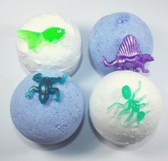 4 full size Bath Bombs with a Toy Inside  easter by WizardAtWork, $18.00