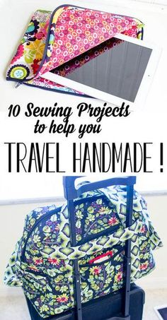 10 DIY Sewing Projects to help you Travel Handmade! — SewCanShe & Free Da& 10 DIY Sewing Projects to help you Travel Handmade! — SewCanShe & Free Daily Sewing Tutorials The post 10 DIY Sewing Projects to help you Travel Handmade! — SewCanShe Diy Sewing Projects, Sewing Projects For Beginners, Sewing Hacks, Sewing Tutorials, Sewing Crafts, Sewing Tips, Sewing Basics, Crafts To Sew, Sewing Ideas