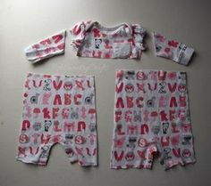 baby clothes cut apart