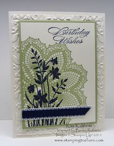 I've seen variations of this card in many different places. I wasn't sure who to give credit to, but then I heard that Becky Roberts originally created it for a Founder's Circle Swap this past fall. I'm not surprised that it's showing up all over the place . . . it's beautiful and easy to …