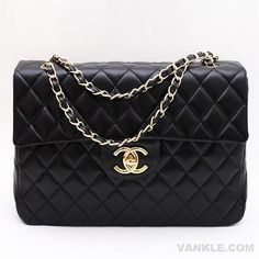 Wholesale Chanel 2.55 Black Leather Women's Handbag/Shoulder Bag/Evening Bag