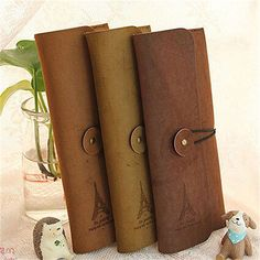 Vintage New Suede Leather  Pen Pencil Cosmetic Makeup Bag/Stationery Case Pouch