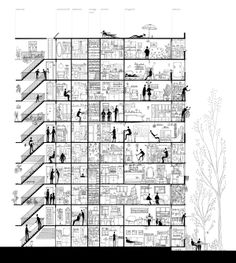 Dwelling by Anda Cristina Popescu, via Behance
