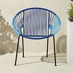 Shop ixtapa loveseat.   Modernist aesthetic brings the classic Mexican resort vibe to decks, patios, terraces.  Handwoven over black powdercoated steel tube frame, bold beams of bright white PVC cord radiate a hot spot for hanging out.