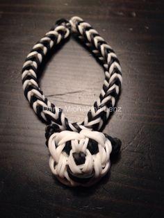 Rainbow Loom Panda Bracelet