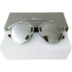 Dior So real sunglasses New and Authentic  Dior So real sunglasses  Silver frame with silver mirror  Includes original case Dior Accessories Sunglasses