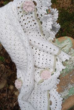 Pima Cotton Crochet Baby Blanket