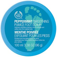 The Body Shop Peppermint Cooling Pumice Foot Scrub, Peppermint 3.38 fl oz (100 ml) found on Polyvore