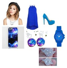 """""""Blue All Day"""" by alayziahwilliams ❤ liked on Polyvore featuring beauty, Jessica Simpson, Wet Seal and Vince Camuto"""