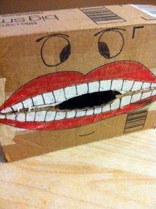 This makes me laugh, kids brushing Mr. Big Mouth's teeth. hahahahaa