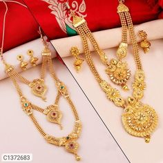 Jewellery, Jewellery Sets, Buy Jewellery Online, Jewellery Sets Design, Jewellery Collection, Women's Fashion Jewellery Online, Necklace, Gold Plated Women's Jewelry Sets, Women Jewelry, Fashion Jewellery Online, Jewelry Collection, Gold Necklace, Set Design, Womens Fashion, Stuff To Buy