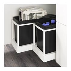 IKEA - UTRUSTA, Pull-out recycling bin tray, You can easily access the bins, as the drawer can be pulled out all the way.25-year Limited Warranty. Read about the terms in the Limited Warranty brochure.