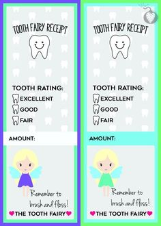 tooth fairy receipts