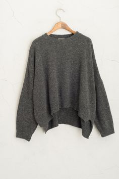 Olive - Unbalanced Boucle Knit Jumper, Charcoal, £45.00 (http://www.oliveclothing.com/p-oliveunique-20150915-035-charcoal-unbalanced-boucle-knit-jumper-charcoal)
