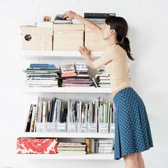 7 Basement Organization Tips - Healthy Home - Mother Earth Living Organisation Hacks, Office Organization, Real Simple Magazine, Declutter Your Home, Organizing Your Home, Organizing Tips, Organising, Decluttering Ideas, Cleaning Tips