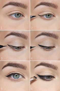 The most easiest way to do a winged eyeliner <3 - NUDE | Lily.fi http://amzn.to/2tGUGWx