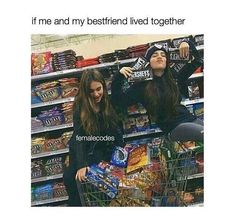 My bff and I would die of diabetes. But hey, at least we'd die together :,) Really Funny Memes, Funny Relatable Memes, Stupid Funny, Hilarious, Friend Memes, Friend Quotes, Best Friend Humor, Best Friend Pictures, Friend Pics