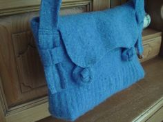 Upcycled sweater purse...