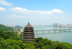 Built in AD 970 on the bank of the Qiatang River, the Leifeng Pagoda is one of the most significant in China