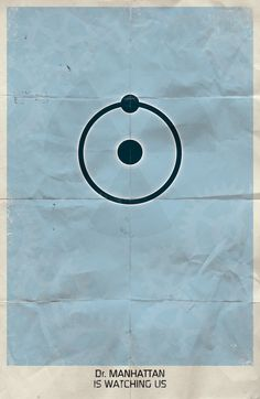 #Watchmen Minimalist Posters /// Dr. Manhattan /// by Marko Manev /// via Behance