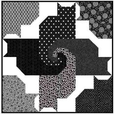 Cat and Friends Quilt Kit -  Fabric and Pattern