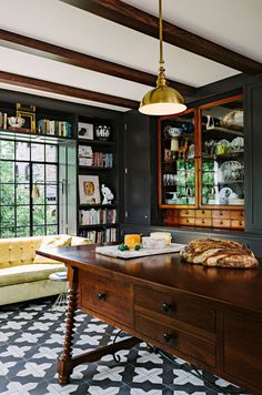 Love the black with the antique wood. desire to inspire - desiretoinspire.net - Black and gold