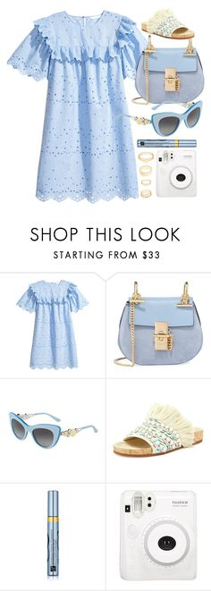 """Summertime"" by smartbuyglasses-uk ❤ liked on Polyvore featuring Chloé, Dolce&Gabbana, Estée Lauder, Charlotte Russe and Blue"