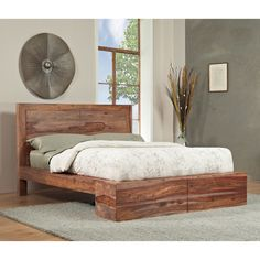 Sheesham Solid Wood Full-size Panel Bed | Overstock™ Shopping - Great Deals on Domusindo Beds