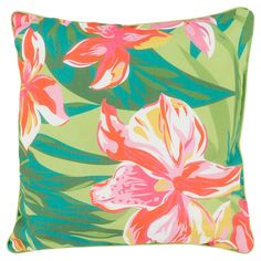 "Surya Josie Outdoor Pillow 16"" x 16"" - Hot Pink, Diva Pink"