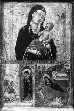 Madonna and Child with the Annunciation and the Nativity Goodhart Ducciesque Master (Italian, active ca. 1315–30)