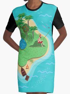 """Desert Island "" Graphic T-Shirt Dresses by Lidra | Redbubble"