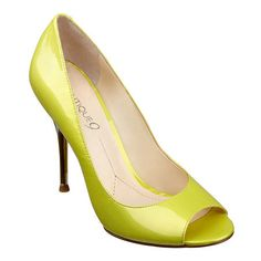 "Boutique 9 peep toe pump with 4 1/4"" lucite heel."