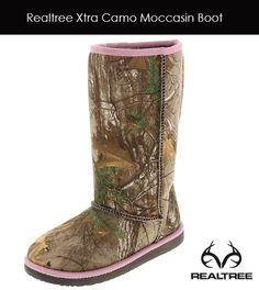 #RealtreeXtra Camo Girls' Moccasin Boot by Payless Shoes - Now is available.