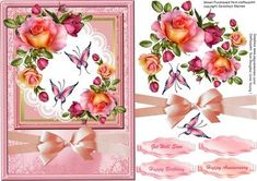 Beautiful Pink Rose on a white lace mat on Craftsuprint - Add To Basket!