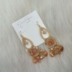 """Selling this """"LISTING  Jessica Simpson Chandelier Earrings"""" in my Poshmark closet! My username is: cindyciara. #shopmycloset #poshmark #fashion #shopping #style #forsale #Jessica Simpson #Jewelry"""